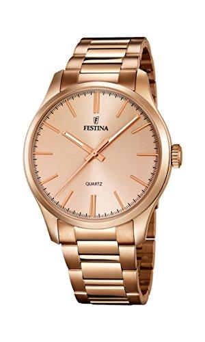 Festina-Damen-Armbanduhr-XL-Analog-Quarz-Edelstahl-beschichtet-F168091