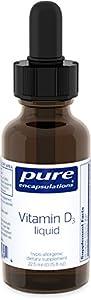 Pure Encapsulations Vitamin D3 Liquid, 22.5 ml, 0.75 Ounce