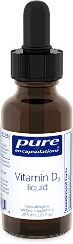 Pure Encapsulations - Vitamin D3 Liquid - Hypoallergenic Support for Bone, Breast, Prostate, Cardiovascular, Colon and Immune Health* - 22.5 ml.