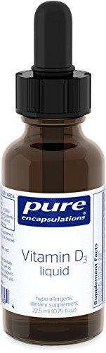 Pure Encapsulations - Vitamin D3 Liquid - Hypoallergenic Support for Bone, Breast, Prostate, Cardiovascular, Colon and Immune Health* - 22.5 ml. (Liquid Organic Vitamins compare prices)