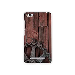 Mikzy Metal Piece With Wooden Background Printed Designer Back Cover Case for Xiaomi Mi4i