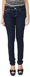 INTEGRITI Women's Slim Fit Jeans (ATTITUDE-LJ-108 EZYFT RAW_32, Black, 32)