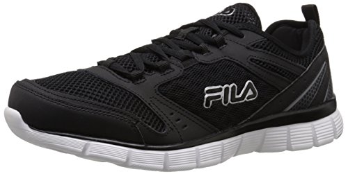 Fila Men's Memory Deluxe SE-M Running Shoe, Black/Castlerock/White, 9 M US