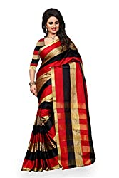 Fabcart Multi Color Art Silk Saree with Blouse Piece