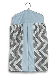 Baby Doll Bedding Minky Chevron Diaper Stacker, Blue