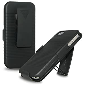 Amzer AMZ91585 Shellster for iPhone 4/4S (Black)