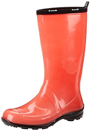 Kamik Women's Heidi Rain Boot,Coral,8 M US