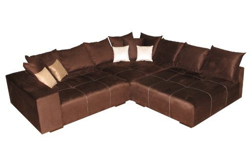 big sofa ecke made in germany bezug alcatex noble lux. Black Bedroom Furniture Sets. Home Design Ideas