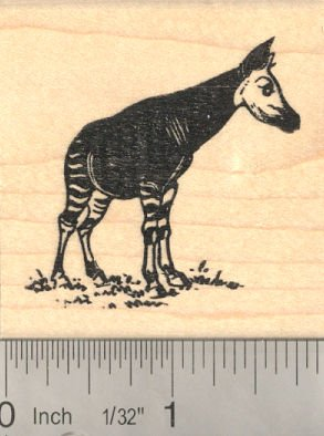 Okapi Rubber Stamp (African Wildlife related to Giraffe)