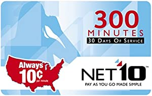 NET10 Refill Card 300 Minute Airtime Card