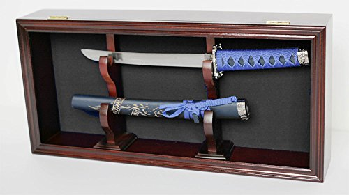 display case wall mounted cabinet for dagger or short sword kcs16 bla mah arts entertainment. Black Bedroom Furniture Sets. Home Design Ideas