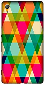 Timpax Slip-resistant, stain-resistant and tear-resistant Hard Back Case Cover Printed Design : Colourful Pattern.100% Compatible with Sony Xperia Z-3