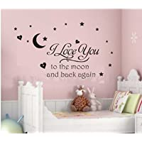 Newsee Decals I love you to moon Wall…