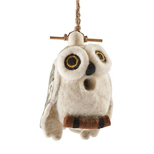 DZI Handmade Designs DZI484057 Snowy Owl Felt Birdhouse (Handmade Bird Houses compare prices)