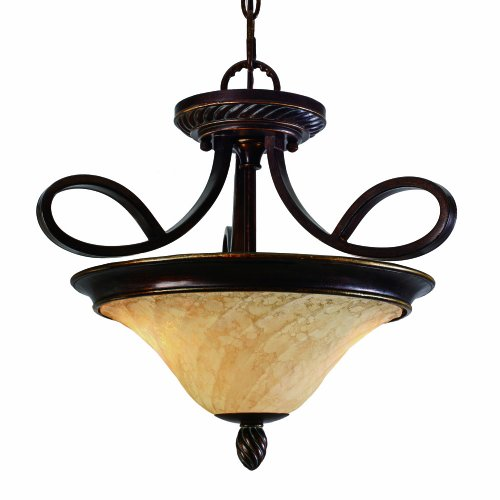 Golden Lighting 8106-SF CDB Torbellino Convertible Semi-Flush, Cordoban Bronze Finish
