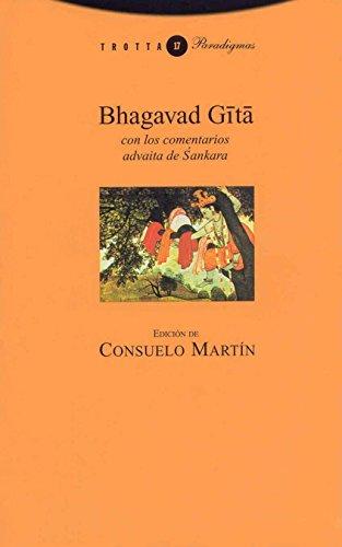 Bhagavad Gita. Con Los Comentarios Advaita De Sankara - 5ª Edición (Paradigmas)