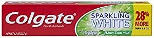 Colgate Fluoride Toothpaste, Sparkling White Mint Zing, 8.2 oz (Pack of 6)
