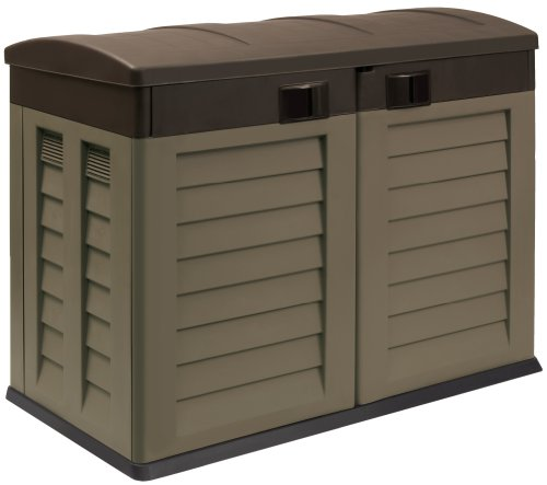 Mocha Plastic Garden Shed / Wheelie Bin store for Home or Caravan