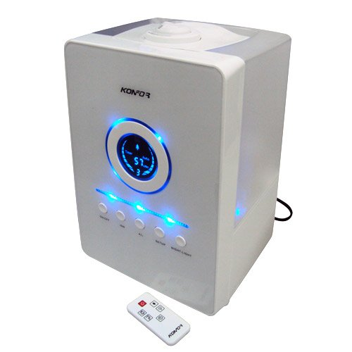 Cheap Konfor Digital Air Ultrasonic Humidifier With Lons Double Cool Mist SPS-807 With Permanent Filter, Remote Control, Automatically Shut Off for Safety Use (SPS-807)