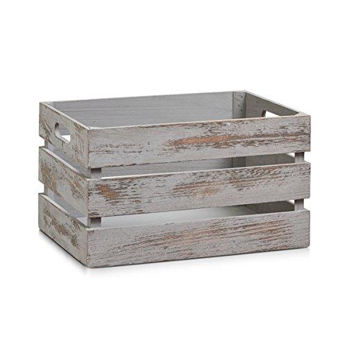 zeller-15137-de-rangement-caisse-en-bois-gris-vintage-35-x-25-x-20-cm