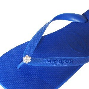 Cheap ROYAL BLUE CLEAR FLOWER Swarovski Crystal Havaianas Flip Flops Sandals Thongs sizes 5-11 (B002HFUF6K)
