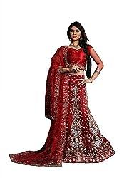 Vidhi Fashions Women's Net Lehenga Choli - NET5379_Red