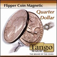 MMS Flipper Coin Magnetic Quarter Dollar (with DVD)(D0043)by Tango - Trick