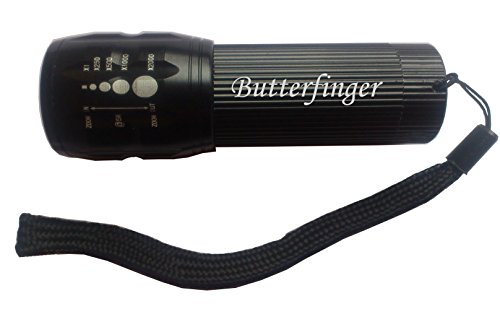 engraved-flashlight-with-text-butterfinger-first-name-surname-nickname