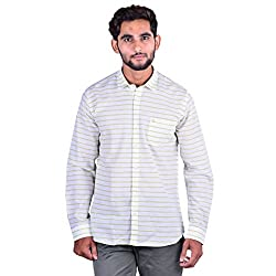 CORTOS White Cotton Linen Plain Regular fit casual Solid Shirt (Size: XXX-Large)
