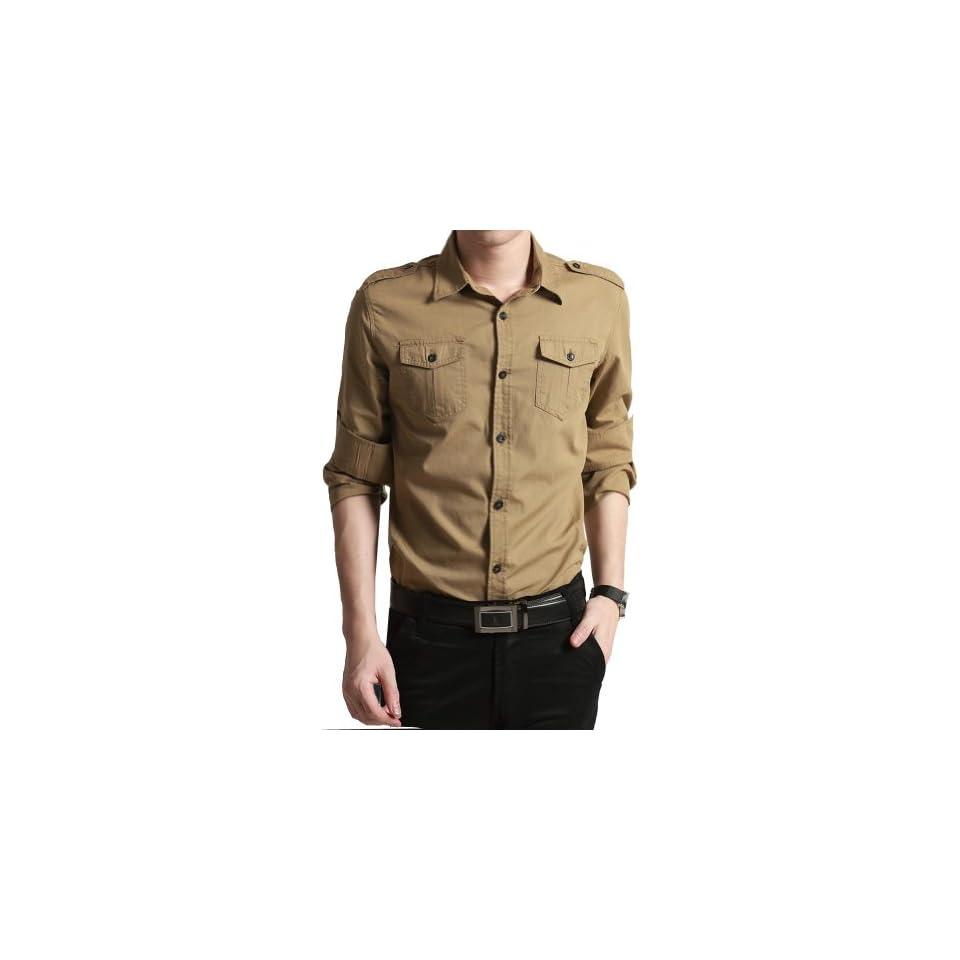 Autumn Men Shirt Long Sleeved Shirts Men's Cotton Shirt at  Men's Clothing store