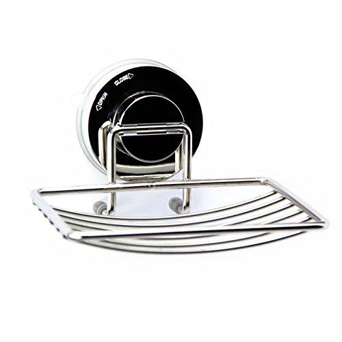 Upper West Collection in acciaio inox portasapone e spugna supporto con ventosa | contiene oltre 2kg. Doccia o cucina accessori