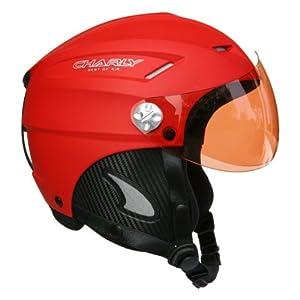 Charly Loop, casque parapente/ski avec visière amovible et sacoche de protection, rouge mat, taille L/XL
