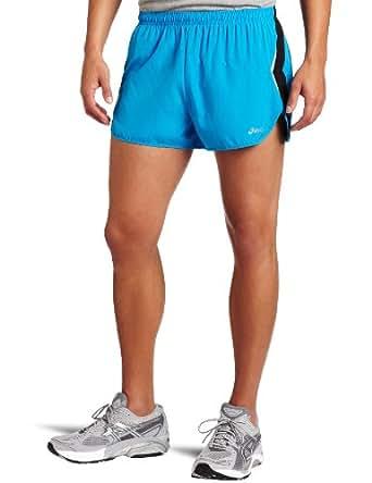 ASICS Men's Asics Split Short,Pac Blue/Black,Large