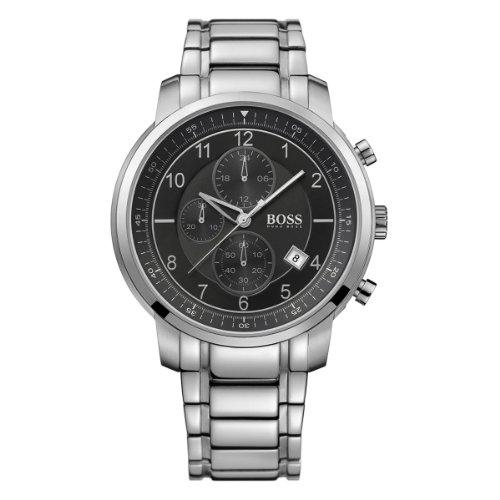Hugo Boss 1512641 - Reloj analógico de cuarzo para hombre con correa de acero inoxidable, color plateado