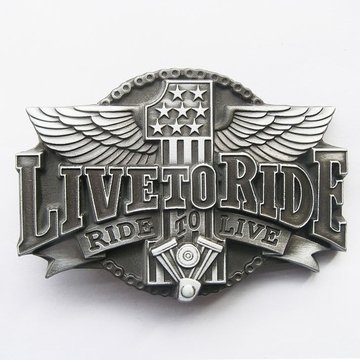 Belt Buckle (Original Ride To Live Motorcycle Rider)