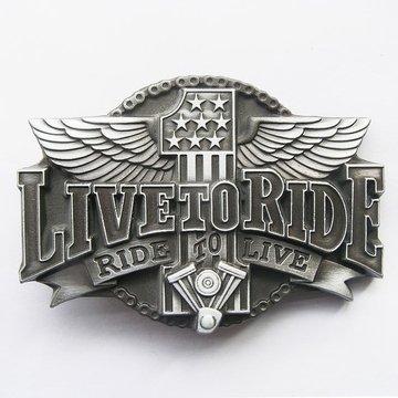 Belt Buckle (Original Ride To Live Motorcycle Rider)