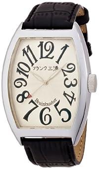 [フランク三浦]MIURA 六号機(改) 正回転 禁断の巨大化モデル 完全非防水 腕時計 ジャパンクオーツ FM06K-WH