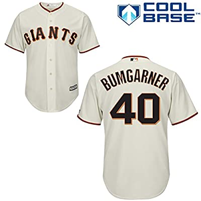 Madison Bumgarner San Francisco Giants Home Youth Cool Base Jersey by Majestic