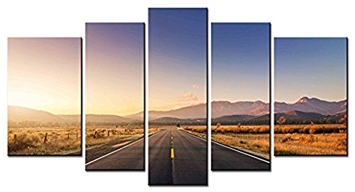 moken-lan-on-the-road-series-home-decor-artwork-airline-highway-distant-mountain-blue-sky-wall-art-5