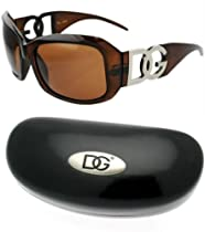 DG Sun Glasses Brown with XXL DG Hard Case Black