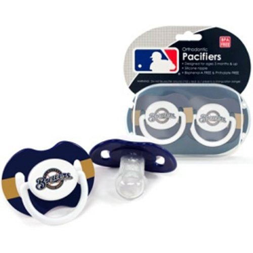 BSS - Milwaukee Brewers MLB Baby Pacifiers (2 Pack)