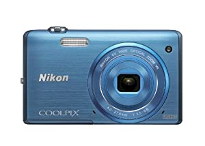 Nikon COOLPIX S5200 Wi-Fi CMOS Digital Camera with 6x Zoom Lens (Blue)