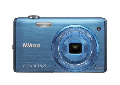 Nikon COOLPIX S5200 Wi-Fi CMOS Digital Camera with 6x Zoom Lens (Blue)