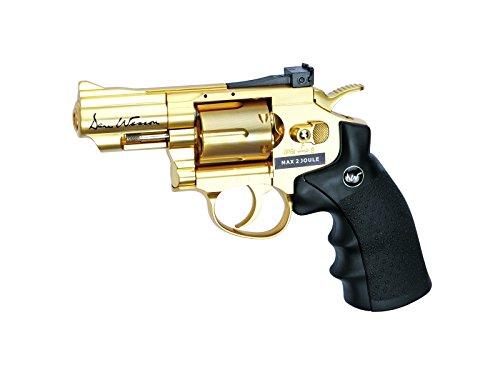 "ASG 17374 C02 Dan Wesson Revolver Airgun, Gold, 2.5"""