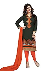 dheylu Creation Women's Cotton embroidery Dress Material