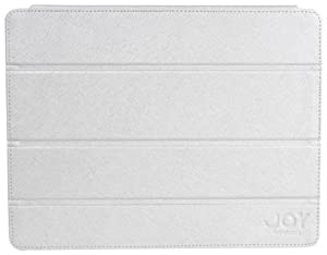 The Joy Factory  SmartSuit2 Ultra Slim Leather Snap On Case with Wake Up/Sleep Cover for iPad2 AAD120 - White Silver