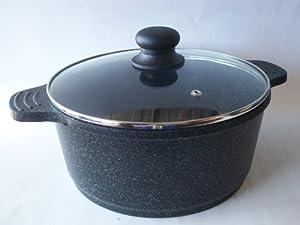 Ceramic Marble Coated Cast Aluminium 6 qt. Stockpot Non Stick Cookware (26 cm diameter) by KW Marble Ware