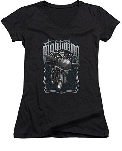 Batman Nightwing: Biker Ladies Junior Fit V-Neck T-Shirt