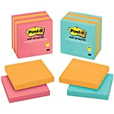 Post-it Pop-up Notes, 3 in x 3 in, Assorted Colors, 5 Pads/Pack (3301-5ALT-M)