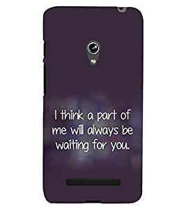 printtech Quotes Love Back Case Cover for Asus Zenfone 5 / Asus Zenfone 5 A500CG